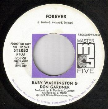 BABY WASHINGTON & DON GARDNER - FOREVER - MASTER FIVE DJ