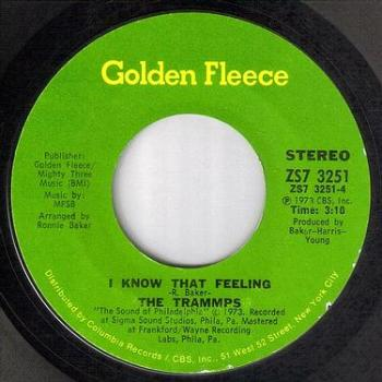 TRAMMPS - I KNOW THAT FEELING - GOLDEN FLEECE