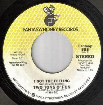 TWO TONS O FUN - I GOT THE FEELING - FANTASY DJ
