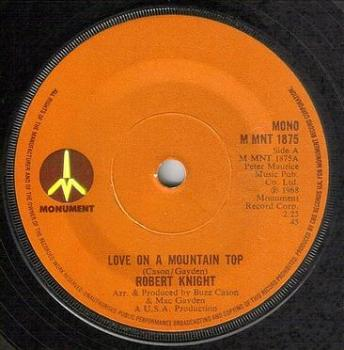 ROBERT KNIGHT - LOVE ON A MOUNTAIN TOP - MONUMENT