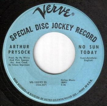 ARTHUR PRYSOCK - NO SUN TODAY - VERVE DJ