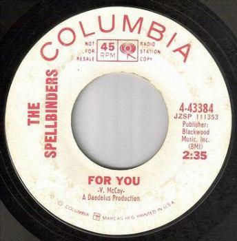 SPELLBINDERS - FOR YOU - COLUMBIA DJ