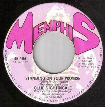 OLLIE NIGHTINGALE - STANDING ON YOUR PROMISE - MEMPHIS