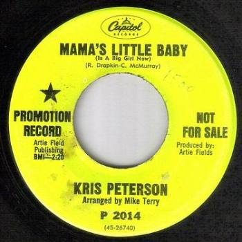 KRIS PETERSON - MAMA'S LITTLE BABY - CAPITOL DJ