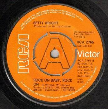 BETTY WRIGHT - ROCK ON BABY, ROCK ON - RCA DJ