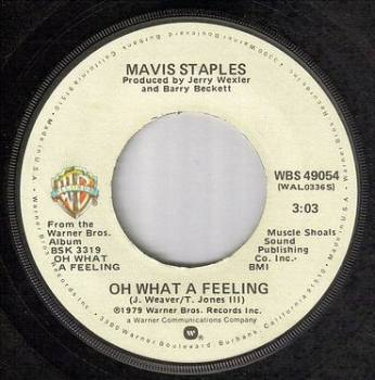 MAVIS STAPLES - OH WHAT A FEELING - WB