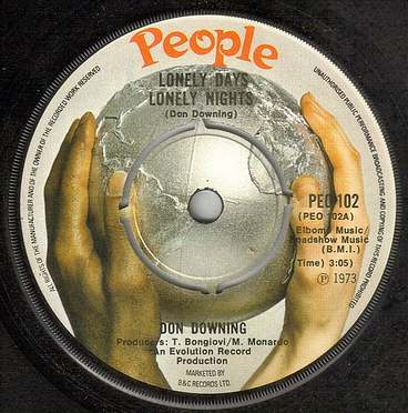 DON DOWNING - LONELY DAYS LONELY NIGHTS - PEOPLE