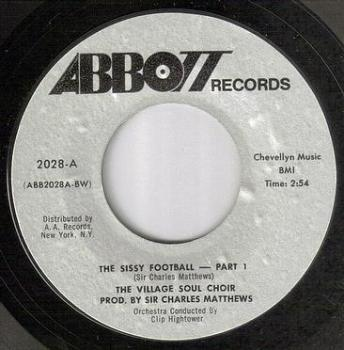 VILLAGE SOUL CHOIR - THE SISSY FOOTBALL - ABBOTT