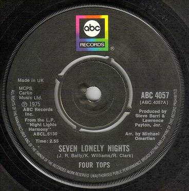 FOUR TOPS - SEVEN LONELY NIGHTS - ABC