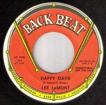 LEE LAMONT - HAPPY DAYS - BACK BEAT DJ