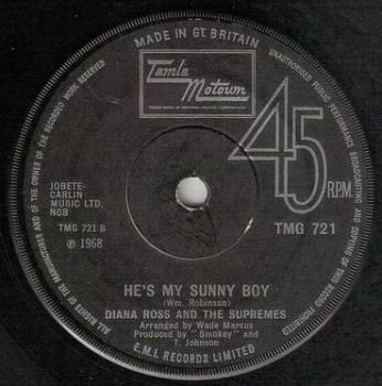 DIANA ROSS & THE SUPREMES - HE'S MY SUNNY BOY - TMG 721