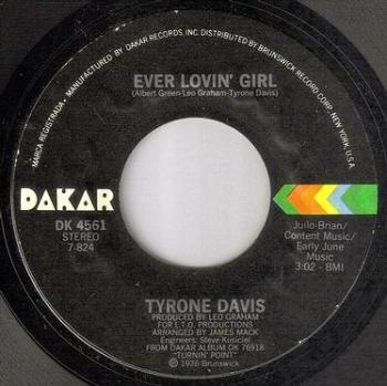TYRONE DAVIS - EVER LOVIN' GIRL - DAKAR