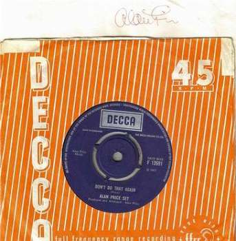 ALAN PRICE SET - DON'T DO THAT AGAIN - DECCA