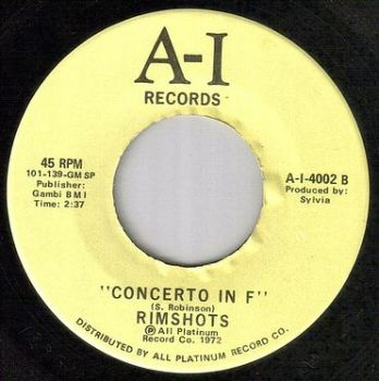 RIMSHOTS - CONCERTO IN F - A-I
