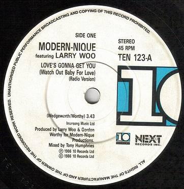 MODERNIQUE - LOVE'S GONNA GET YOU - UK 10