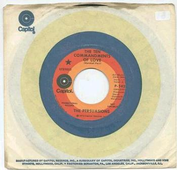PERSUASIONS - THE TEN COMMANDMENTS OF LOVE - CAPITOL dj