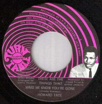 HOWARD TATE - THESE ARE THE THINGS - TURNTABLE