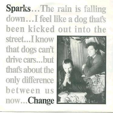 SPARKS - Change - LONDON P/S