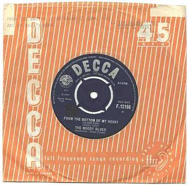 MOODY BLUES - FROM THE BOTTOM OF MY HEART - DECCA