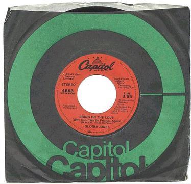 GLORIA JONES - Bring On The Love - CAPITOL