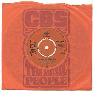 HAROLD MELVIN - I Miss You - CBS UK