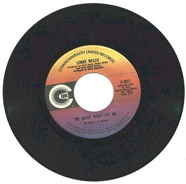 LENNY WELCH - My Heart Won't Let Me - CUR