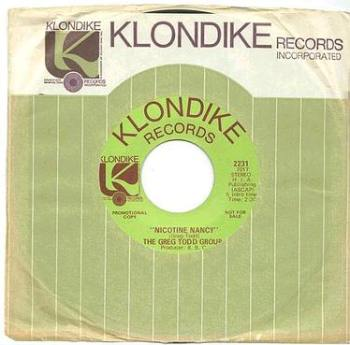 GREG TODD GROUP - NICOTINE NANCY - KLONDIKE