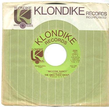 GREG TODD GROUP - NICOTINE NANCY - KLONDIKE