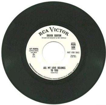 BROOK BENTON - ALL MY LOVE BELONGS TO YOU - RCA dj