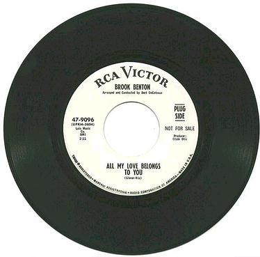BROOK BENTON - ALL MY LOVE BELONGS TO YOU - RCA dj