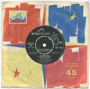 RAY CHARLES - A TEAR FELL - HMV