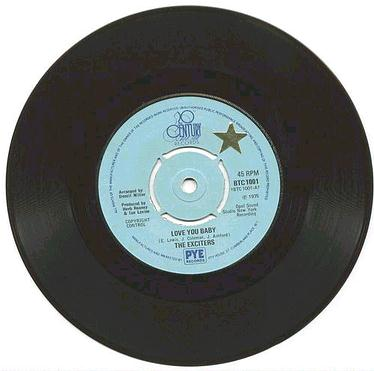 EXCITERS - LOVE YOU BABY - UK 20th Century