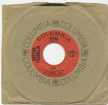 ARETHA FRANKLIN - JIM - COLUMBIA