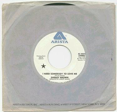 SHIRLEY BROWN - I Need Somebody To Love