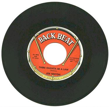 JOE HINTON - THERE OUGHT'A BE A LAW - BACK BEAT