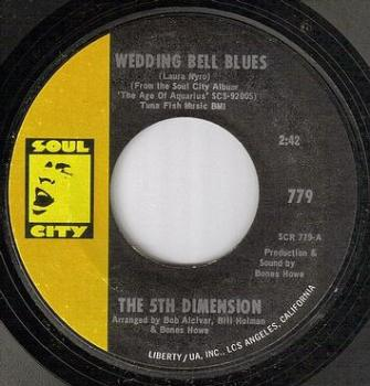 FIFTH DIMENSION - WEDDING BELL BLUES - SOUL CITY