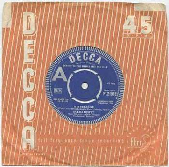 SACHA DISTEL - IT'S STRANGE - DECCA dj