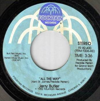 JERRY BUTLER - ALL THE WAY - FOUNTAIN