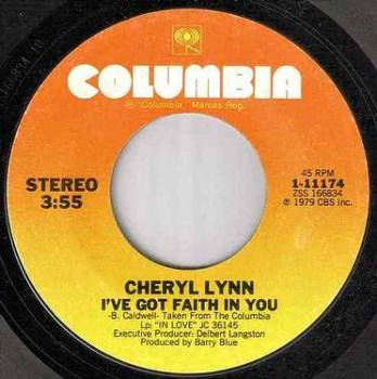 CHERYL LYNN - I'VE GOT FAITH IN YOU