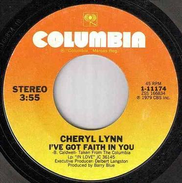 CHERYL LYNN - I'VE GOT FAITH IN YOU