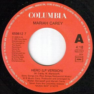 MARIAH CAREY - HERO - COLUMBIA
