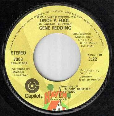 GENE REDDING - ONCE A FOOL - HAVEN