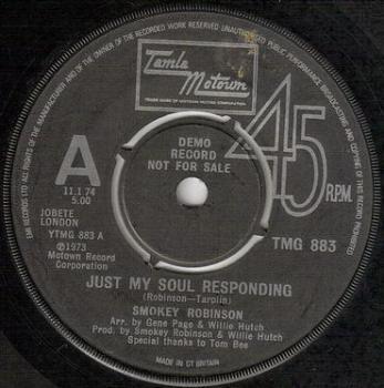 SMOKEY ROBINSON - JUST MY SOUL RESPONDING - TMG 883 dj