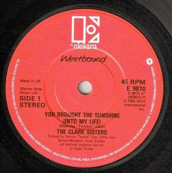 CLARK SISTERS - YOU BROUGHT THE SUNSHINE - ELEKTRA