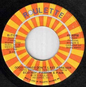 E.P.&PAIN - GOOD THINGS DON'T LAST FOREVER - US