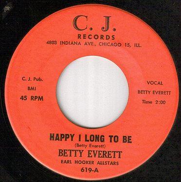 BETTY EVERETT - HAPPY I LONG TO BE - CJ