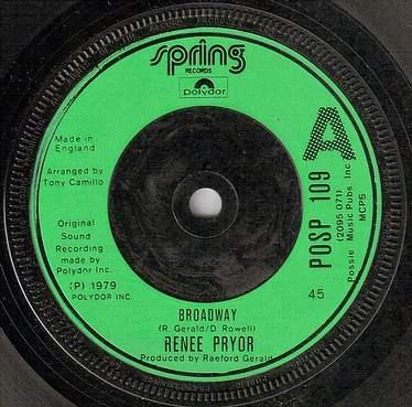 RENEE PRYOR - BROADWAY - SPRING UK