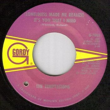 TEMPTATIONS - IT'S YOU THAT I NEED - GORDY