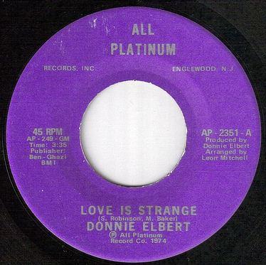 DONNIE ELBERT - LOVE IS STRANGE - ALL PLATINUM