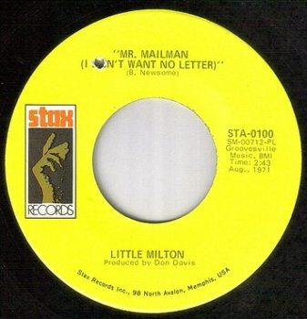 LITTLE MILTON - MR.MAILMAN - STAX